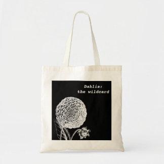 Vintage Dahlia Engraving Tote Bag