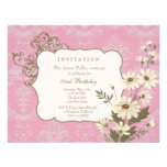 Vintage Daisies 70th-79th Elegant Birthday Party Personalized Announcement