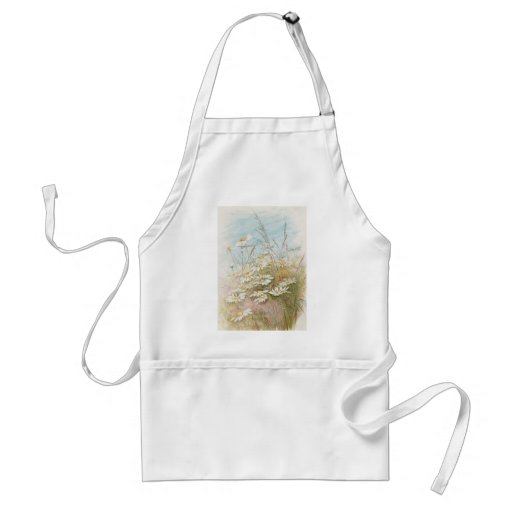 Vintage Daisies In A Field Easter Card Apron