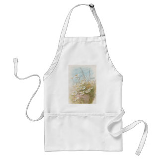 Vintage Daisies In A Field Easter Card Standard Apron
