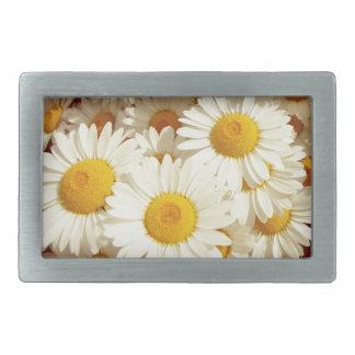 Vintage daisies rectangular belt buckles