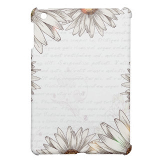 Vintage Daisies & Writing iPad Mini Cover