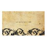 Vintage Damask Black Swirl Wedding Placecards