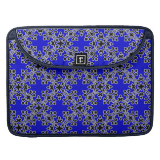 Vintage Damask Blue Macbook Pro Flap Sleeve MacBook Pro Sleeve
