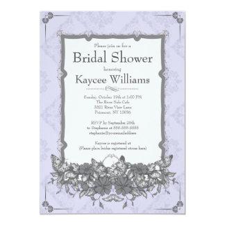 Vintage Damask Butterfly Garden Bridal Shower Card