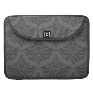 Vintage Damask Charcoal Macbook Pro Flap Sleeve Sleeve For MacBooks