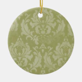 Vintage Damask Christmas Ornament