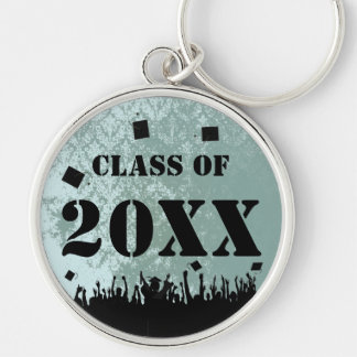 Vintage Damask Class of 2012 Keychain Tossing Caps