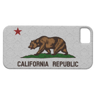 Vintage Damask Flag of California Republic Pattern iPhone 5 Covers