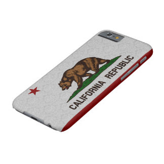 Vintage Damask Flag of California Republic Pattern Barely There iPhone 6 Case