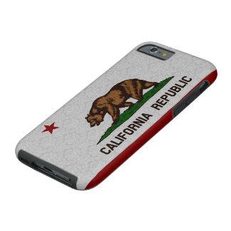 Vintage Damask Flag of California Republic Pattern Tough iPhone 6 Case