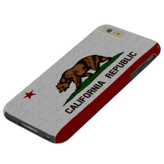 Vintage Damask Flag of California Republic Pattern Tough iPhone 6 Plus Case