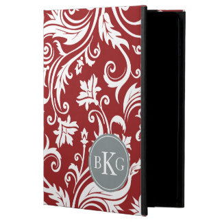 Vintage Damask Floral Patern | Red Grey iPad Air Cases