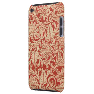 Vintage Damask Floral Red Case-Mate iPod Touch Barely There iPod Case