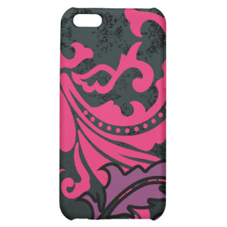 Vintage Damask Fuchsia Navy Plum iPhone Cover iPhone 5C Covers