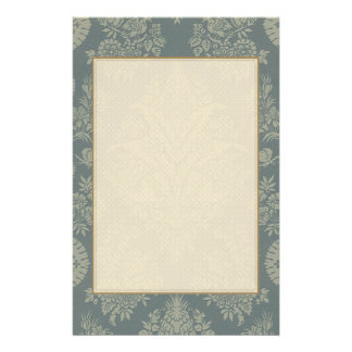 Vintage Damask in Antique Green Stationery