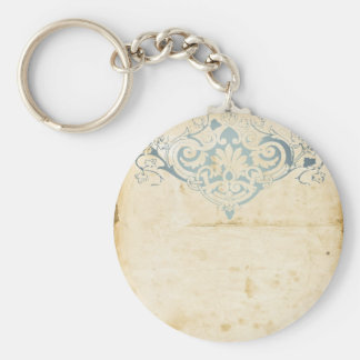 Vintage Damask Key Ring