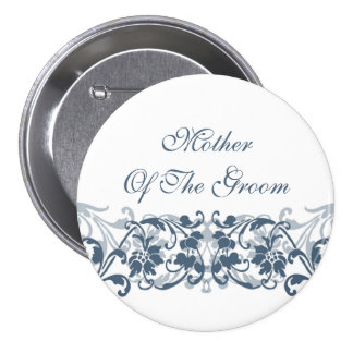 Vintage Damask Mother of the Groom Button / Pin