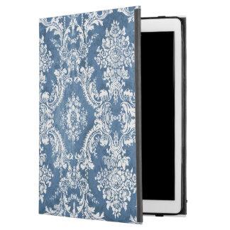 Vintage Damask Pattern - Sapphire Blue White