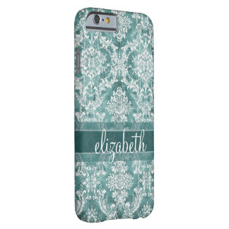 Vintage Damask Pattern with Grungy Finish Barely There iPhone 6 Case
