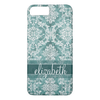 Vintage Damask Pattern with Grungy Finish iPhone 8 Plus/7 Plus Case