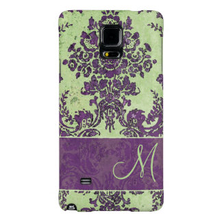 Vintage Damask Pattern with Monogram Galaxy Note 4 Case