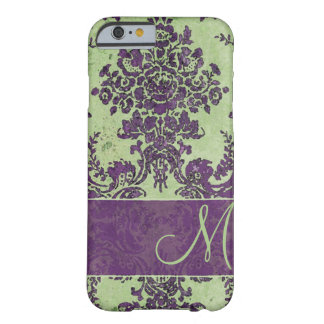 Vintage Damask Pattern with Monogram iPhone 6 Case