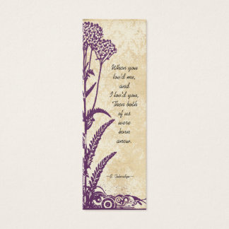 Vintage Damask Purple Wild Flower Wedding Tags Mini Business Card