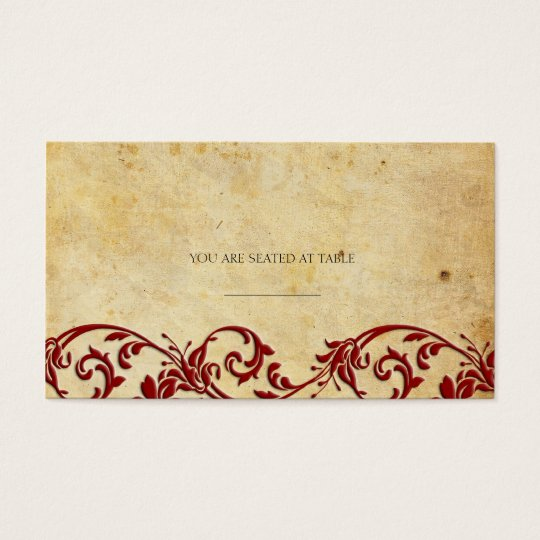 Vintage Damask Swirl Wedding Placecards Business Card