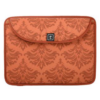 Vintage Damask Tangerine Macbook Pro Flap Sleeve Sleeve For MacBook Pro