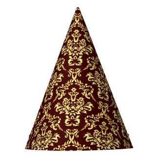 Vintage Damask, vibrance Party Hat