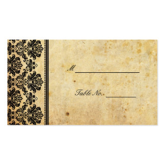 Vintage Damask Wedding Seating Placecards Business Card