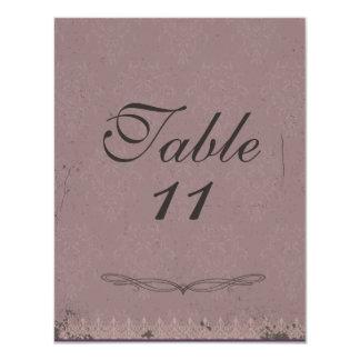 Vintage Damask Wedding Table Numbers Custom Invitations