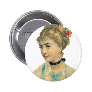 Vintage Damzel 6 Cm Round Badge