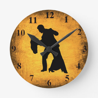Vintage Dance Couple Silhouette Wall Clock