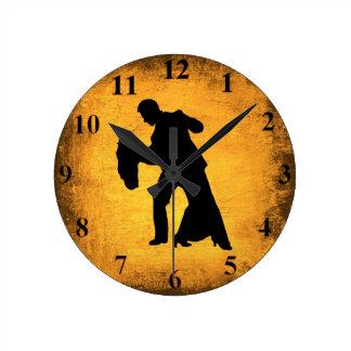 Vintage Dance Couple Silhouette Wall Clock