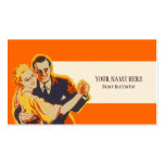 Vintage Dance Instructor Business Card Template