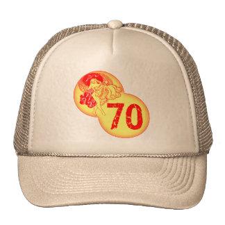 Vintage Dancer 70th Birthday Gifts Cap
