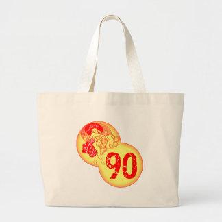 Vintage Dancer 90th Birthday Gifts Jumbo Tote Bag