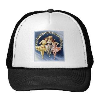 Vintage Dancing Ballerinas Mesh Hat