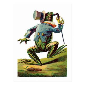 Vintage Dancing Frog Postcard