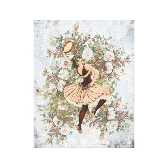 Vintage Dancing Gypsy Floral Mix and Match 11x14