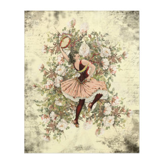 Vintage Dancing Gypsy Floral Mix and Match 16x20 Acrylic Print