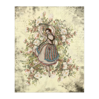 Vintage Dancing Gypsy Floral Mix and Match 16x20 Acrylic Wall Art