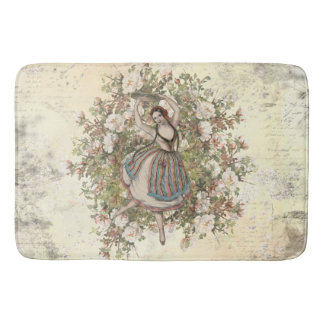 Vintage Dancing Gypsy Floral Mix and Match Bath Mat