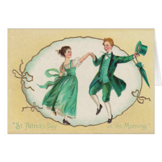 Vintage Dancing St Patrick's Day Card