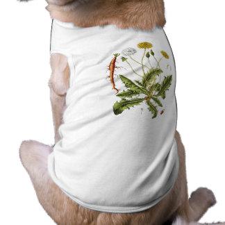 Vintage Dandelion Illustration Sleeveless Dog Shirt