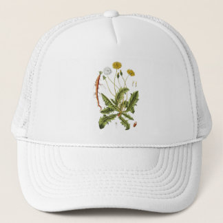 Vintage Dandelion Illustration Trucker Hat