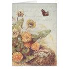 Vintage Dandelions Butterfly Bird Nest Thank You Card