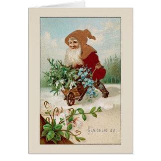 Vintage Danish Glædelig Jul Christmas Card